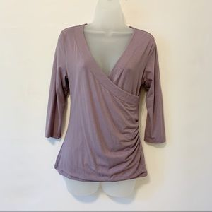 SOFT SURROUNDINGS PURPLE FAUX WRAP